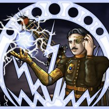 Nikola Tesla - Art nouveau et Steampunk