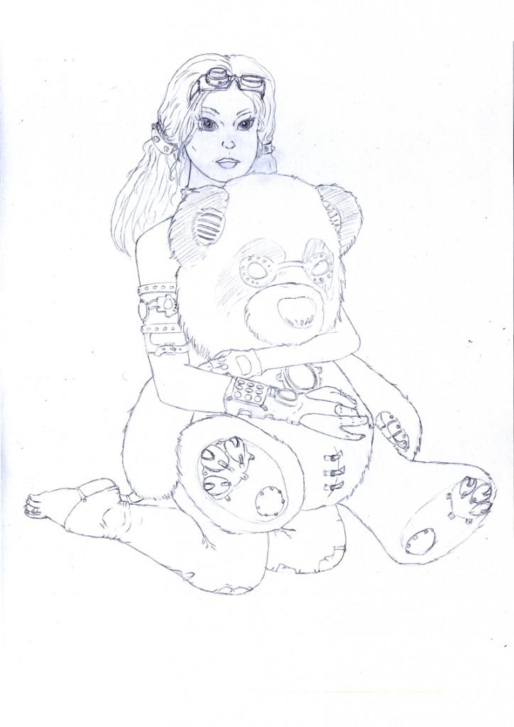 Jeune fille en mode Steampunk