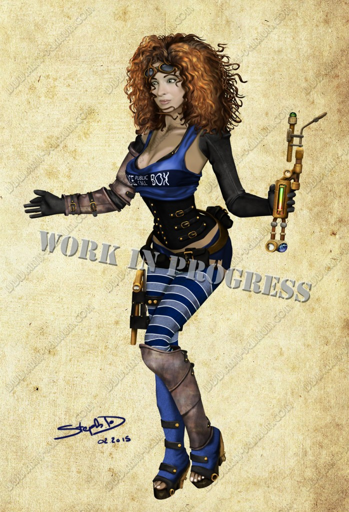 River Song pinup style