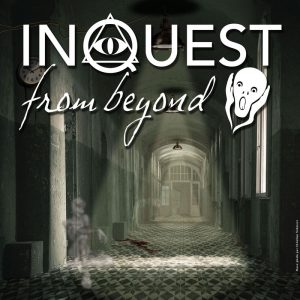 "Logo du show ""Inquest from Beyond"" en situation.. Montage et photo-manipulation."
